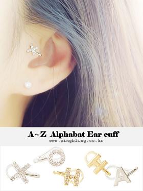 ★A~Z★알파벳 earcuff [2 type][이니셜 이어커프]