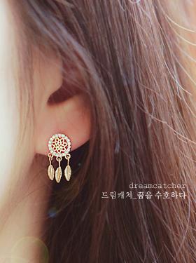 ★실버침★드림캐쳐III earring