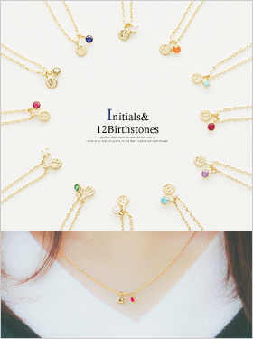 ★이니셜&탄생석★쥬비아 necklace
