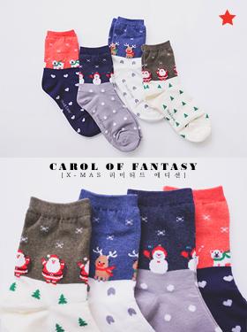 ★크리스마스 한정판★환상의 캐롤 socks