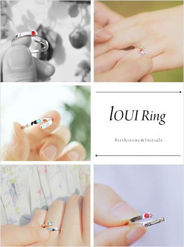 ★탄생석+이니셜각인★루이 탄생석 ring
