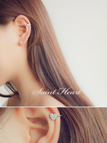 ★이어커프★ 세인트 하트 earcuff