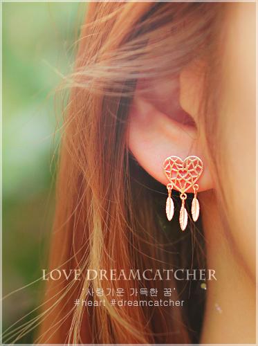 ★실버침★러브 드림캐쳐 VI earring