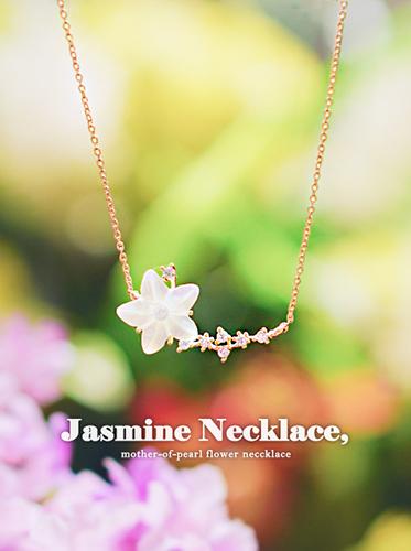 [천연자개] 자스민 necklace