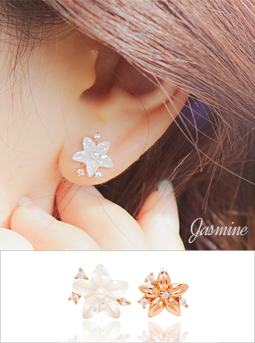 ★실버침★ 자스민 earring