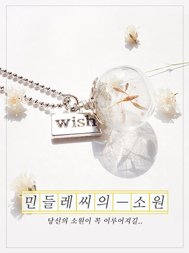 (일시품절) 12월입고예정 /민들레씨의 소원 I necklace