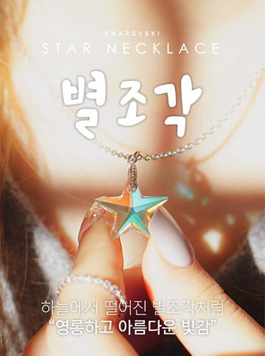 ★스와로브스키★별조각 necklace